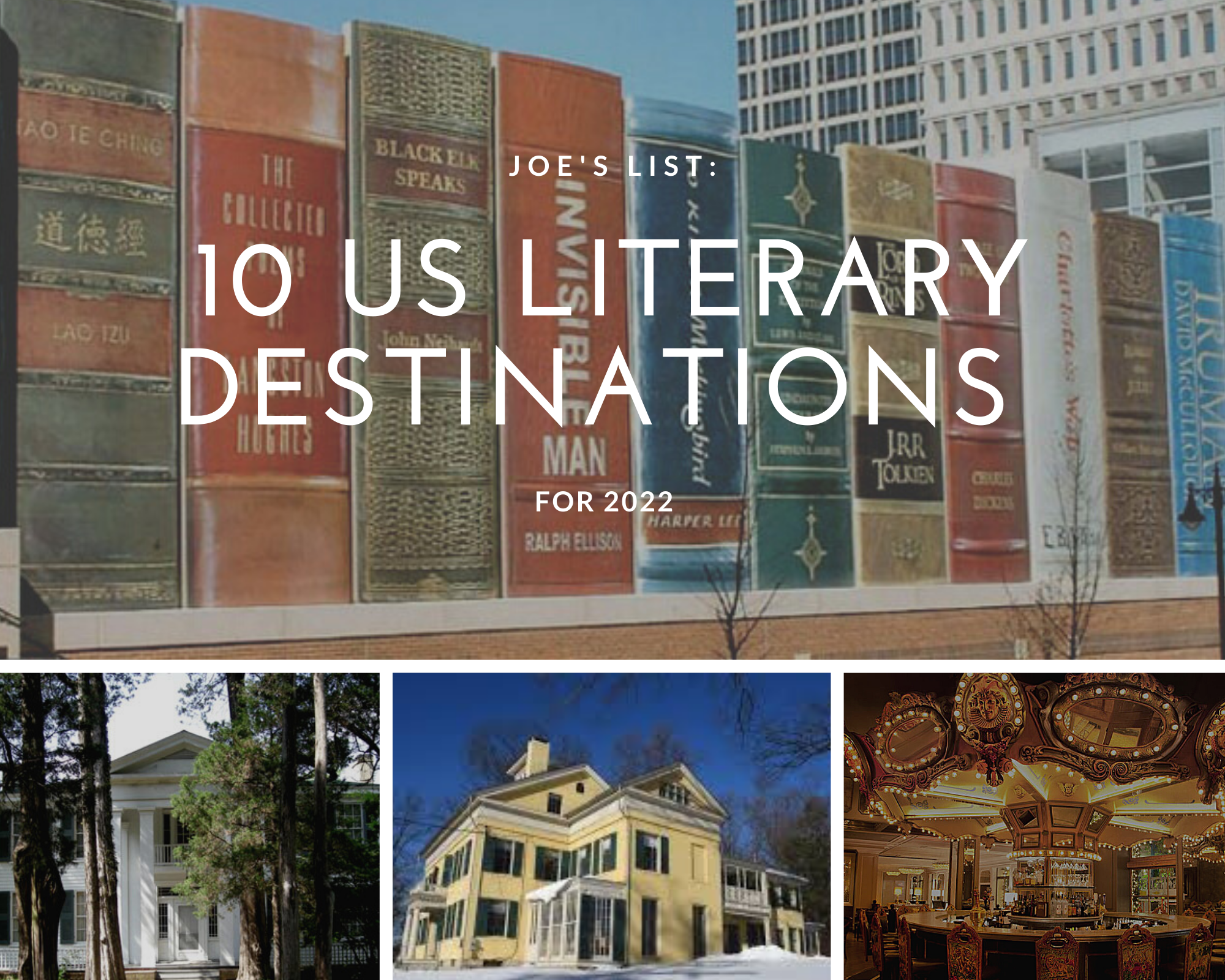 10 US Literary Destinations for 2022