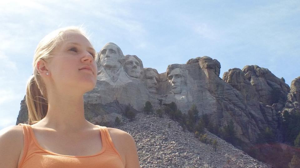 Lauren at Mt. Rushmore