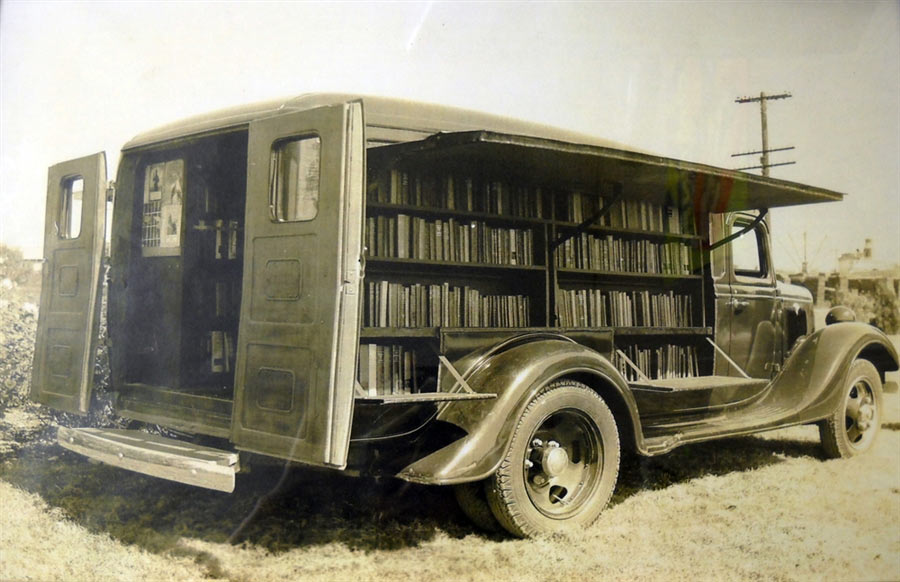 Why is there a Digital Bookmobile at the Library?